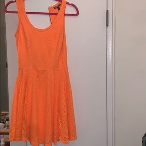 Neon orange Express sundress